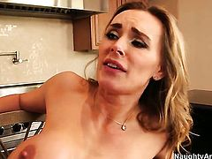 Alan Stafford is horny as hell and cant wait any longer to slam Exotic Tanya Tate
