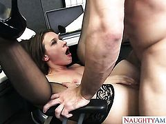 Naughty Callie Calypso has office sex