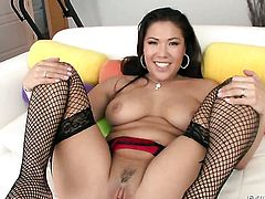 Oriental London Keyes and hard cocked dude are horny for each other