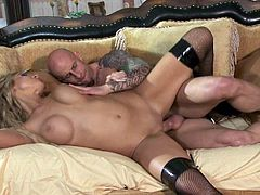Natalie Vegas is her name, and a lustful and seductive body she has. She gets banged by a dude with a shaved head and gets ready for a huge facial at the end