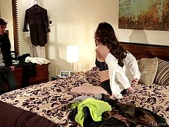 Casey has a hot body, that can make any man melt. That's why when hunky man Logan asks her out on a date, slutty Casey knows, she has to give him the best experience there is. Watch Logan please Casey with sucking and loving. She is not shy and makes sure she lets Logan enter her hole and burst out all his cum in her sexy cunt.