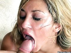 Roxy Jezel has fire in her eyes as she gets cum soaked after sex with horny man