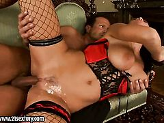Blonde seductress Christina Jolie and a lucky guy enjoy oral sex they wont soon forget