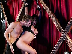 Asian Lana Violet gets her muff attacked by Danny Ds sturdy love stick