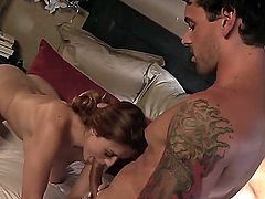 Huge ass Karlie Montana gets in bed with her sisters boyfriend. She seduced him when he came over to see her sister, but she was not around. Karlie took advantage of him.