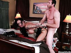 Angelina Valentine is wet as the ocean in this hardcore action with Jordan Ash