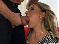 Hot woman has hard penis in her asshole