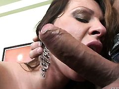 Pamela Smile takes Ian Scotts stiff meat stick in her bum hole so fucking deep after warm-up before