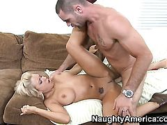 Charles Dera bangs Completely cute doll with giant tits and trimmed twat as hard as possible in steamy action