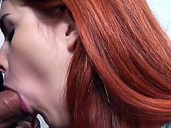 Amarna Miller is in need of some money to pay for her tuition. So she gives a blow job to our guy to make the ends meet. She is very good at it.