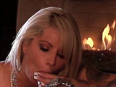 Brooke Haven is in a romantic mood this night. She puts on her sexiest lingerie and gives her husband a blow job. Then she gets her pussy licked and it gets wet.
