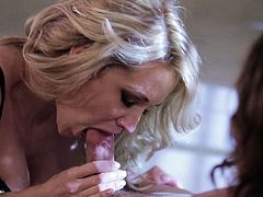 Fine looking milf blonde Jessica Drake with heavy make up loves getting face fucked again and again. Shes a cock sucking addict who cant get enough. Watch Jessica Drake take it in her mouth!