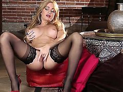Angela Sommers is filled with lust. With no man to help her get off, she must play with herself to reach climax. A lovely solo girl in action for us.