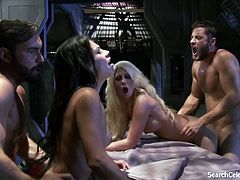 Jazy Berlin and Cassandra Cruz nude - Lust in Space