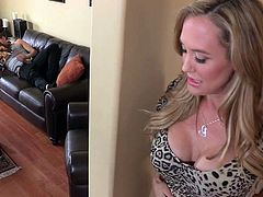 Brandi Love is a good looking well stacked mature blonde who is hungry for cock. This elegant cougar seduces a guy and takes his hard young dick in her experienced hot mouth.