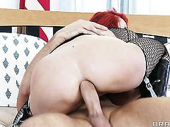 Oriental Mia Lelani with big hooters gets her back yard stuffed full of cock in anal sex action with Keiran Lee before throat job