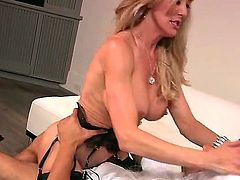 Brandi Love likes to party. This busty blonde gets a guy at a party to go to a secluded room with her so they could have some alone time with each other.