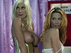 Busty women Jessica Drake and Puma Swede put their super sexy bodies on show as they have crazy lesbian sex in hot porn parody. They lick each others asses and pussies with appetite.