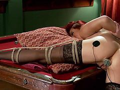 redhead lesbian gets tied up