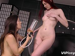 Do you feel attracted to slutty babes with no inhibitions? Take a look at these two horny lesbians, who are eager to share their privacy with the camera. They are friendly and has nice bodies, small lovely tits and a passion for pissing. Watch the redhead fulfilling her lust for pissing fetish and enjoy!