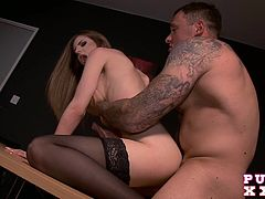 Stella wants to get even with her cheating ex boyfriend so she gets a video camera, puts on her shortest skirt and pays a visit to that guy that she always wanted to fuck.