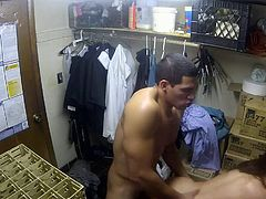 Flexible long haired brunette Kalina Ryu with nice boobs and sexy legs gets her tight clean pussy banged hardcore style in the back room. Lucky dude drills her twat non-stop!