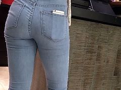 Hot teen with a Nice ass in jeans