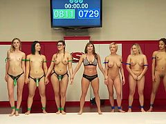 The rules of this kinky, but tough game are simple: the winner fucks the loser! Prepare yourself for the most extreme experiences to be seen on the wrestling arena. There are six horny lesbians, who fight to demonstrate they deserve the public's recognition. See them sucking strapon on knees in the end...
