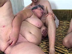 Two lesbians Matures play with each other