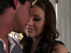 Incredibly cute brunette Gracie Glam turns boy on and he pulls out his dick for her to play. She strokes his dick before he asks for blowjob. And she gets cock sucking session started!