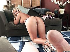 Breathtakingly hot tart Ahryan Astyn shows off her hot body while getting dicked hard and deep by horny guy