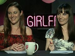 Pornstar talk show hosts have two guests on to talk about it