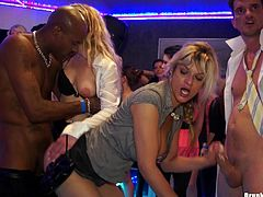 Swinger party ending up in a hardcore group sex shoot