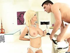 Diamond Foxxx and her hard dicked fuck buddy are in the mood for fucking