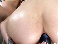 Jordan Ash seduces Cameron Canada into fucking and inserts his meat stickin her back swing after she takes it deep down her throat