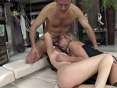 Simone and slutty Taissia are just craving to suck cock. Click to watch the blonde-haired versed milf yelling