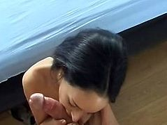 Cute french girl anal and facial