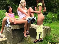Lesbos toying and pissing