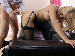 Old man and blonde milf