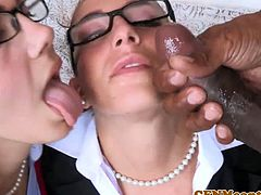 CFNM femdoms assfucked by bbc in fourway
