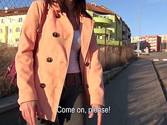 Christine Heidy is a cute elegant amateur girl who gets picked up in the street. Shes just another cash hungry chick who gets talked into getting down and dirty on camera for benefit!