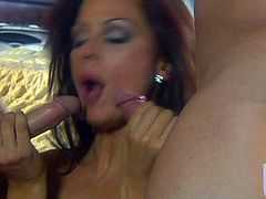 Kirsten Price is a nice looking woman in the mood for threesome sex. She satisfies her sex fantasies with two horny dudes that bang her at both ends. She loves getting double used.