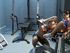 India Summer banged in the gym