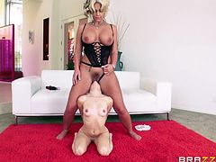 Get ready to see the wildest busty lesbian, playing dirty with a naughty blonde teenager. The hot milf is enjoying, when slutty Piper rims her ass, or eats her pussy. Watch the bitches trying the kinky standing 69 position.