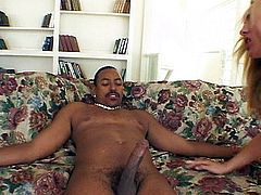 Cute hot Lauren makes black dick happy