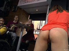 Slutty Mitsuki is wearing a kinky leash, while her crazy buttocks are whipped by another bitch. But the chain of disgraces doesn't end here, as the naughty lady is persuaded into spreading her legs widely. Watch her fucked hard!