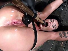 tatttooed lola luscious gets restrained