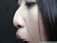 Do crazy milfs excite you? How about a busty Japanese lady, who's eager to shamelessly suck cock in public? Naughty Riko easily finds a volunteer to unzip his pants and stuff his dick in her pretty mouth... Enjoy the kinky details.
