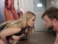 Aiden makes her weak slave suck on her big black strap on. It is so humiliating. Watch as she shoves it deep inside him. She whips his cock and makes him feel like such a weak loser. She is in charge and control.