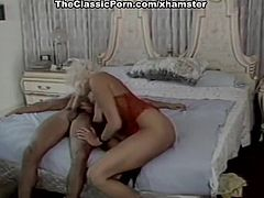 Leslie Winston, Melanie Scott, Peter North in vintage porn